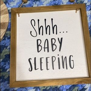 Shh baby sleeping sign